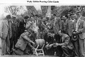 Friendly Society, Wally Dibble Pouring Cider Knole