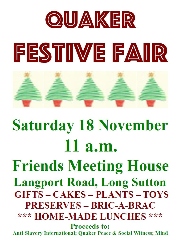 Quakers Festive fair poster
